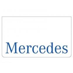 Bavette blanche MERCEDES bleu