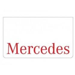 Bavette blanche MERCEDES rouge