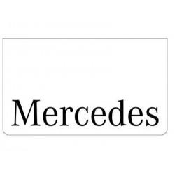 Bavette blanche MERCEDES noir